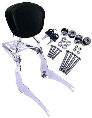 Backrest Sissy Bar Luggage Rack For Yamaha Road Star XV1700PC M Warrior Midnight