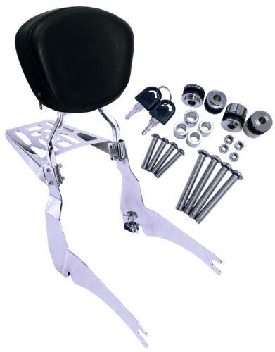 Yamaha Road Star XV 1600 1700 Detachable Sissy Bar Backrest Luggage Rack