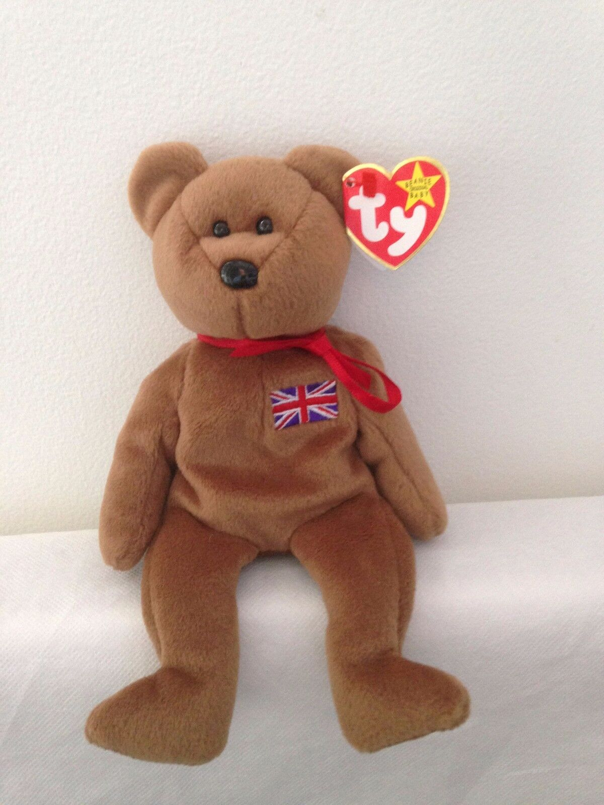 0a89a294721 TY Beanie Babies - Britannia The Bear (UK Exclusive) With Rare Red Tush  Stamp