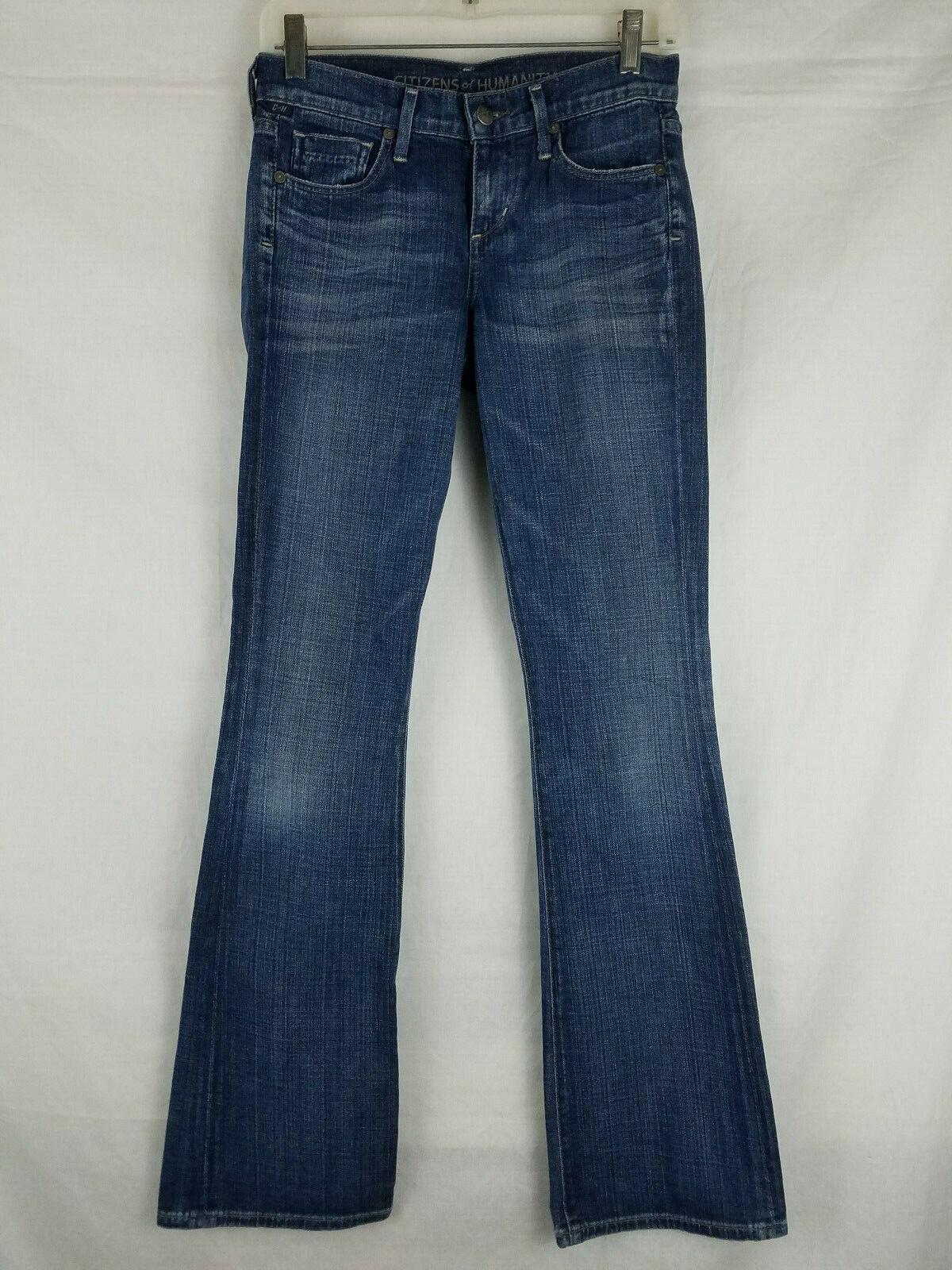 Citizens of Humanity Dita Boot Cut Petite Womens Denim bluee Jeans size 24 x 33