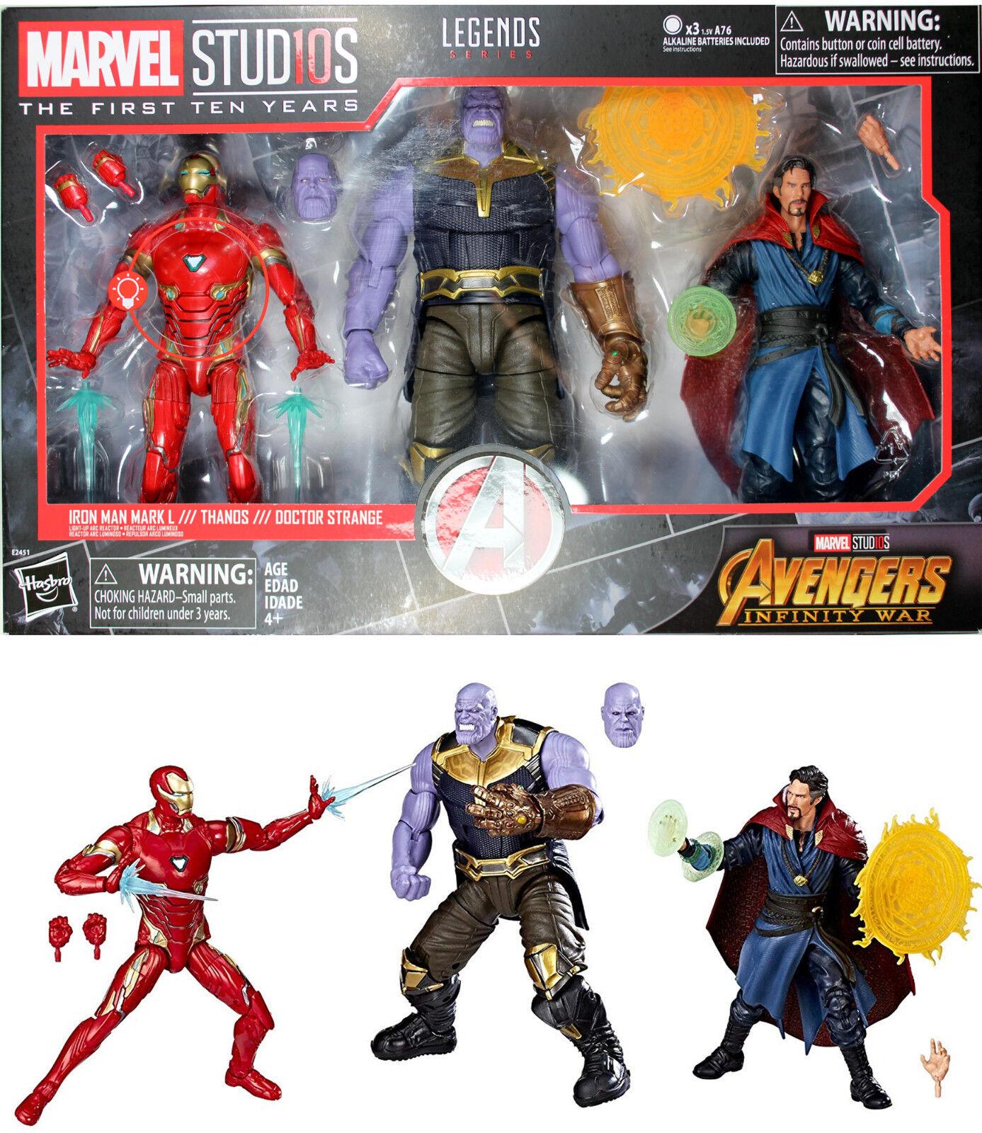 Marvel - legenden  studio - serie - unendlichkeit krieg set - thanos, iron man, dr. seltsam