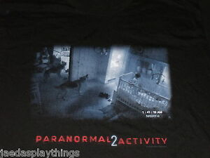 Paranormal-Activity-2-Promo-T-Shirt-Size-XL-Black-Nursery-Dog-Scene-T-Shirt