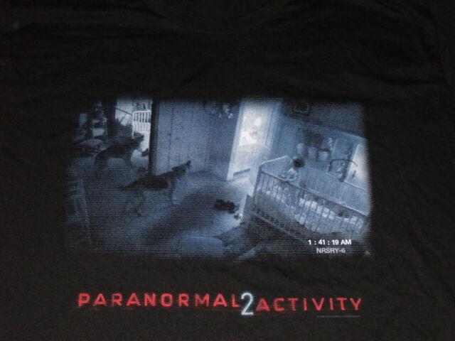 Paranormal Activity 2 Promo T Shirt Size XL Black Nursery Dog Scene T-Shirt