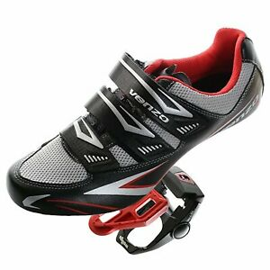 Venzo-Road-Bike-For-Shimano-SPD-SL-Look-Cycling-Bicycle-Shoes-amp-Pedals-Black