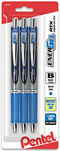 Pentel-Energel-RTX-Liquid-Gel-Pens-Retractable-Blue-Ink-Bold-Tip-1-0mm