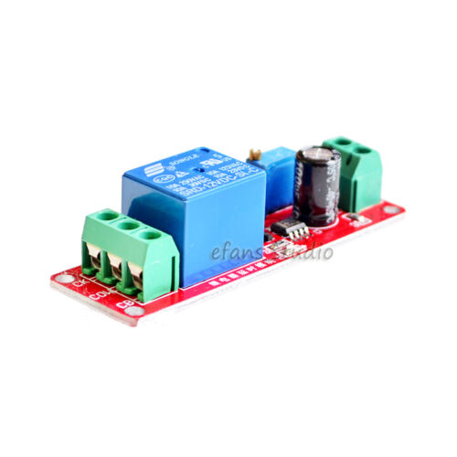 DC 5V 12V Adjustable NE555 Timer Delay Time Relay Switch On Module LED Display