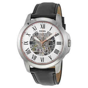 Fossil-Grant-Automatic-Silver-Skeleton-Dial-Men-039-s-Watch-ME3101