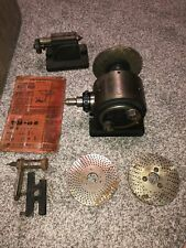 L W Buck Chuck Dividing Head With Tail Stock Face Plates Index 65
