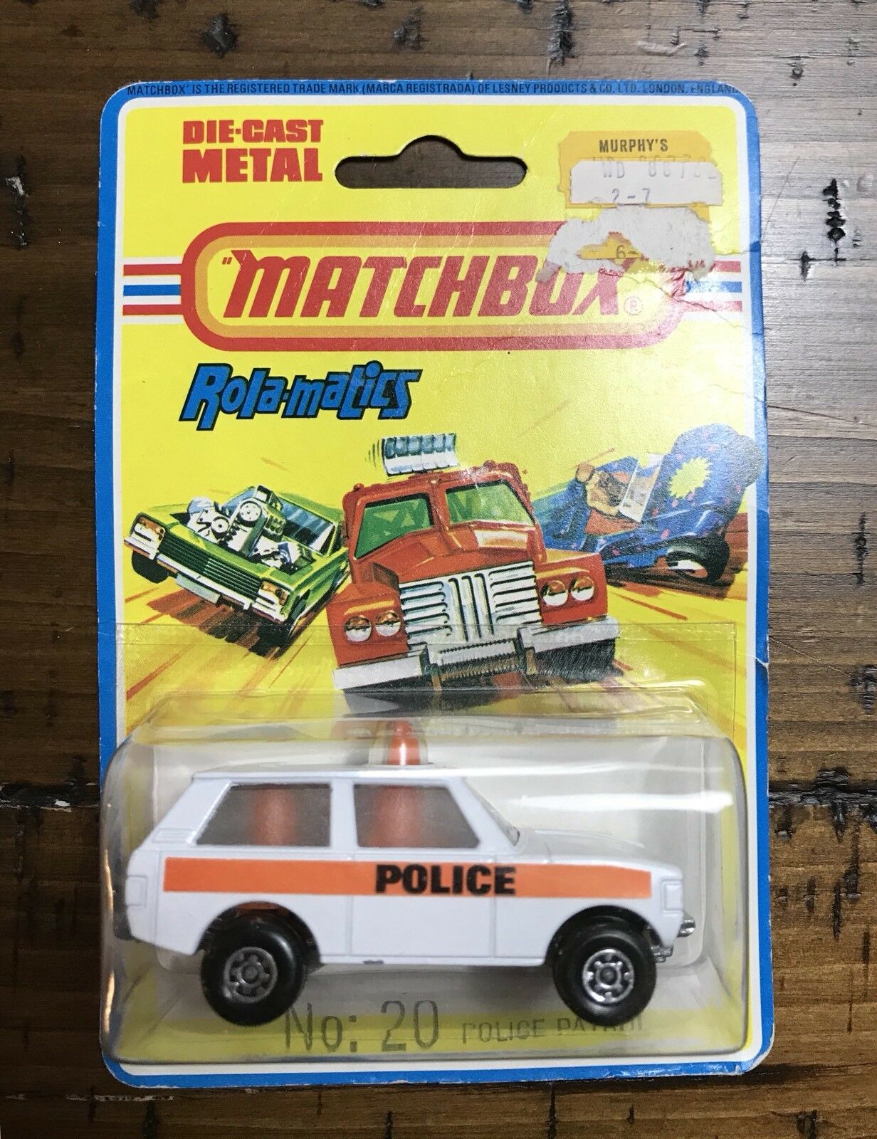 1975 MATCHBOX Rola-Matics by LESNEY LESNEY LESNEY 20 Police Patrol Range Rover Unused in Blist 7f76b6