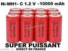 Lot de 8 Piles C R14 LR14 10000mAh Rechargeable 1.2V Ni-Mh Accu DIRECT DE FRANCE