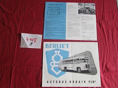 Methodisch N°4108 A / Berliet : Prospectus Autobus Urbain Plb 6 / P.1531.9-55