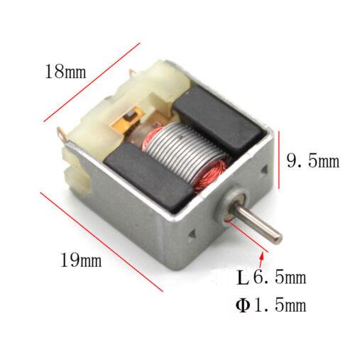 1pc 020 DC 3V 6200RPM Micro motor de alta velocidad pequeño motor para experimento Hazlo tú mismo
