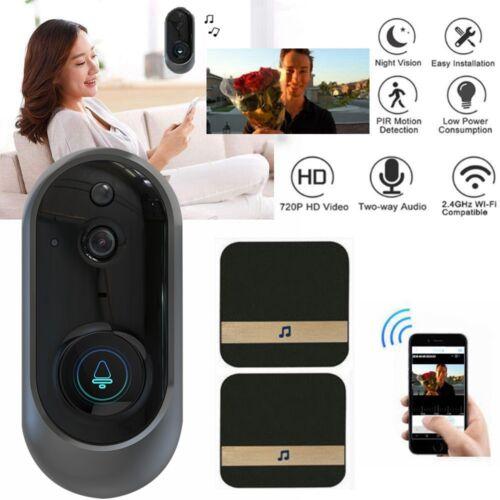 WiFi Wireless Smart Doorbell HD Intercom Camera IR Night Vision Video Recorder