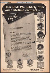RED SKELTON__Original 1959 open letter Trade AD / poster__Chez Paree Nightclub