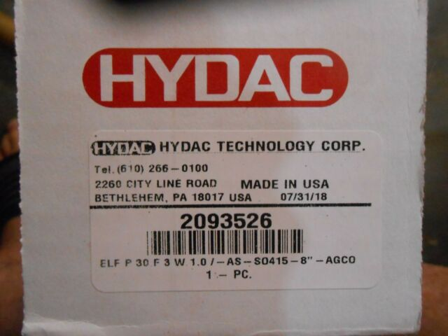 Hydac 00320037 ELF P 3 F 10 W 1.0 Filler Breather Flanged Connections