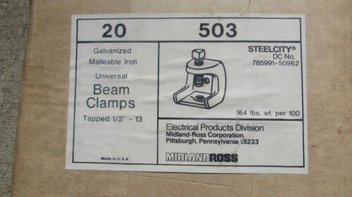 "five 1//2/"" Beam Clamps Midland Ross 503 Lot of 5"