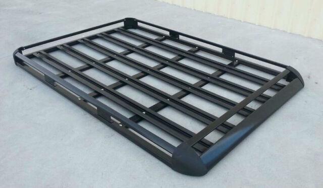 200x132cm  Black Coated Aluminium Car/4WD Roof Rack Luggage Basket