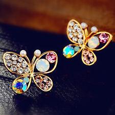 Women's Luxury Rhinestone Butterfly Animal Party Earrings Stud Jewellery Gift