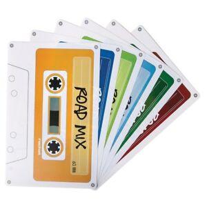 NEW-Walkmats-Retro-Cassette-Design-Road-Mix-Music-Set-of-6-Placemats