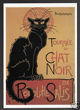 ART POSTCARD Theophile Alexandre Steinlen: Chat Noir de Rodolph Salis BLACK CAT