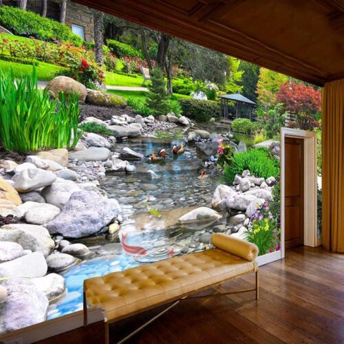 Wall Paper 3D Nature Landscape Wall Painting Living Room Bedroom Background Arts