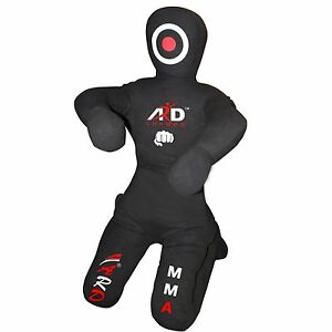 Brazilian Jiu Jitsu Grappling Canvas Kneeling Dummy MMA Boxing Wrestling- Black