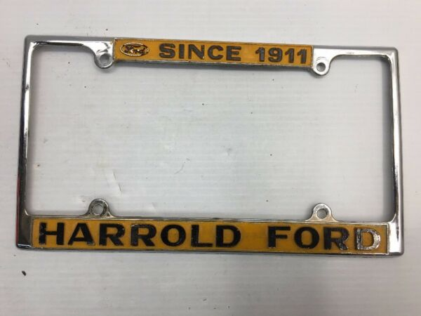 RARE VINTAGE HARROLD FORD SACRAMENTO CALIFORNIA CAR DEALER License ...