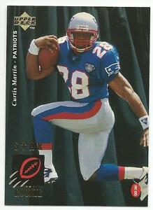 f5af498acdc CURTIS MARTIN 1995 Upper Deck Football ROOKIE card  30 New England ...