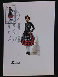 Alerte Spain Mk 1970 Costumes Soria Costumes Maximum Carte Maximum Card Mc Cm C6038 Garantie 100%