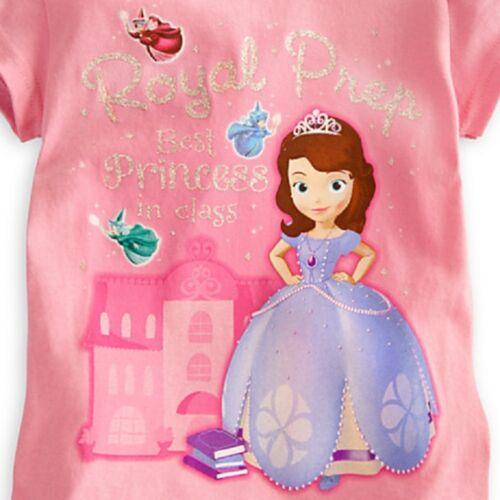 DISNEY Store Sofia The First Ragazze T-shirt Royal Prep miglior Principessa NUOVO CON ETICHETTE