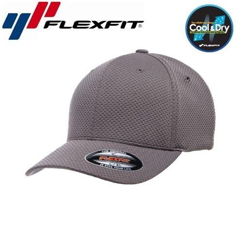 Flexfit cool and dry 3d HEXAGON JERSEY BASEBALL CAP L//XL grigio scuro