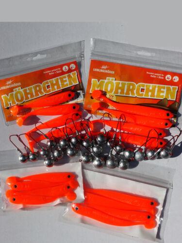 16 möhrchen dorschset Dorsch bomba Dorsch gomma con Jigs Dorsch a pesca /& VMC Jigs