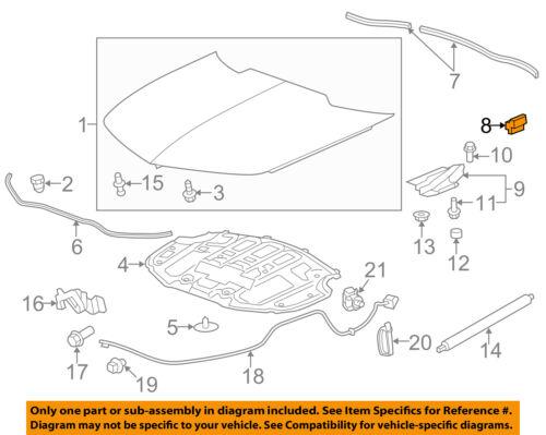 Chevrolet GM OEM 10-15 Camaro Hood-Side Weatherstrip Seal 92249259