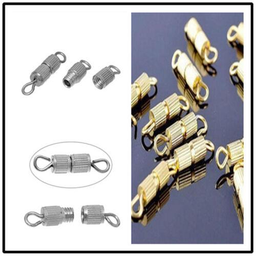50 Stück Schraubverschluss 3x15 mm Schmuckverschluss Dreh Verschluß Verschlüsse