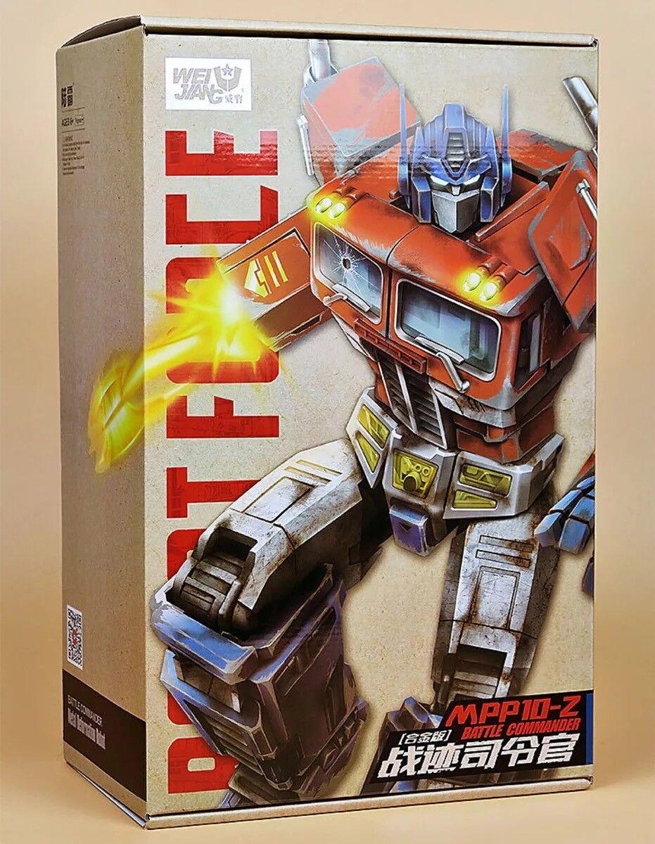 Transformers Wei Jiang Oversized G1 Optimus Prime Figure Mpp10z Battle Damaged