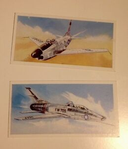 F86 Sabre And YF100c Super Sabre aircraft 2 Vintage Cards - <span itemprop=availableAtOrFrom>Eynsford, Kent, United Kingdom</span> - F86 Sabre And YF100c Super Sabre aircraft 2 Vintage Cards - Eynsford, Kent, United Kingdom