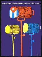 9289.semana De Cine Cubano En Venezuela.lights.poster.decor Home Office Art