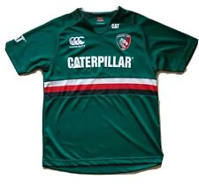 11-12 Years Green New Leicester Tigers Kukri Rugby Boy/'s 125th Classic Shirt
