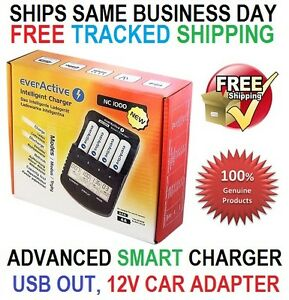 everActive NC-1000 Intelligent Charger for AA AAA Ni-MH Ni-CD batteries LCD PRO