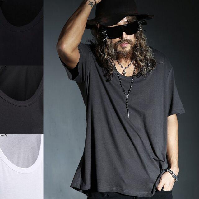 ByTheR Men's Fashion Loose U Neck Line Solid One Size T-shirt  P000BHVU AU