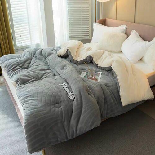 Details about  /Milk Velvet Warm Quilt Comforter Duvet Blanket Comfortable Soft Quilted