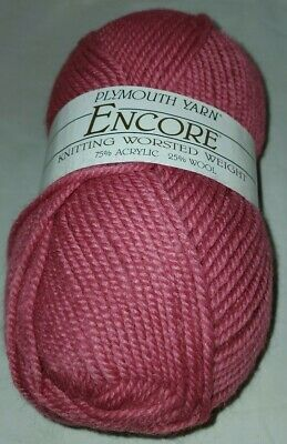 COLOR #6005 MIDNIGHT HEATHER SKEIN//BALL OF PLYMOUTH ENCORE YARN