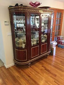 Image is loading Antique Dining Room China Cabinet ABC Home Mint Antique Dining Room China Cabinet ABC Home Mint Condition   eBay. Antique Dining Room China Cabinets. Home Design Ideas