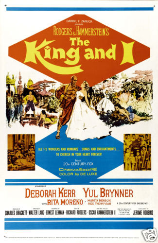 The king and I Yul Brynner cult movie poster print