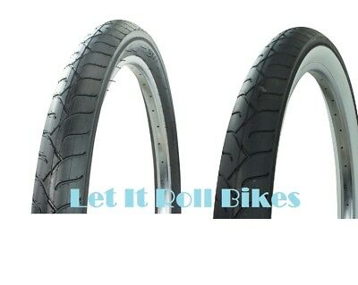 """PAIR of  26/"""" x 3.0 Bicycle Tires Tubes White-Side Wall Cruiser Chopper Bikes"""