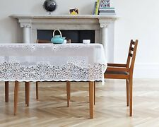Elgin Scottish Lace Tablecloth - 70 x 108 inches - White