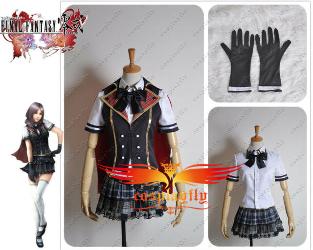 Final Fantasy Type-0 Rem Cosplay Costume Custom Summer Uniform FF ZERO