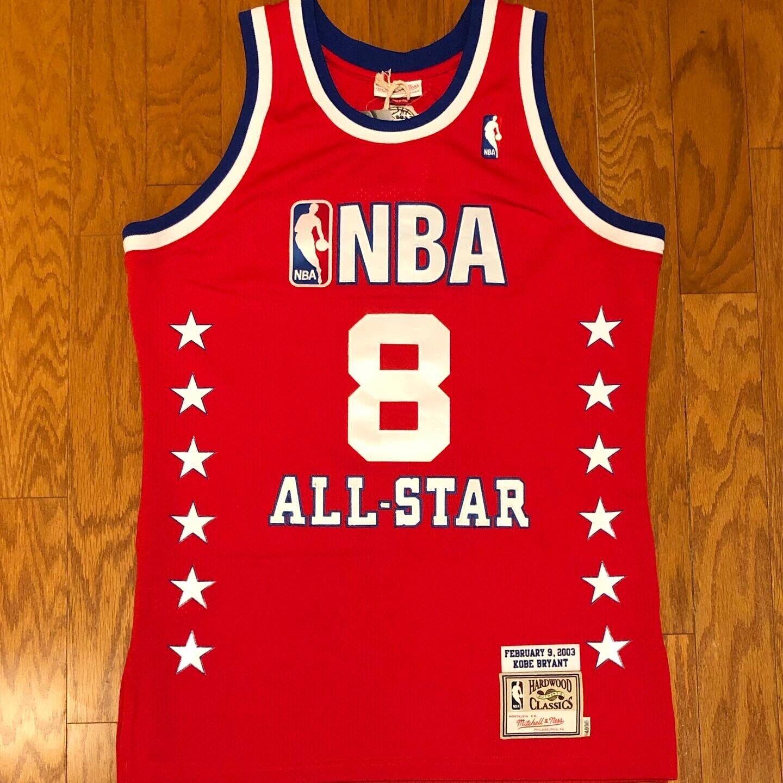 Mitchell & Ness Ba64j2 Kobe Bryant NBA All Star 2003 Authentic ...