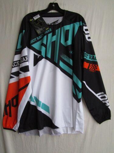 SHOT race gear RACEWAY motocross jersey men's 2XL A0F-12B1-B05-12 mint