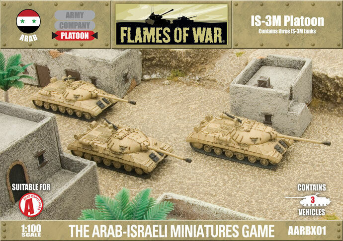 Flames of War Fate of a Nation IS3M Platoon Arab Six-day War Miniatures AARBX01
